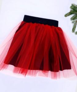 spódniczka z czerwonym tiulem, z czarnym dodakiem