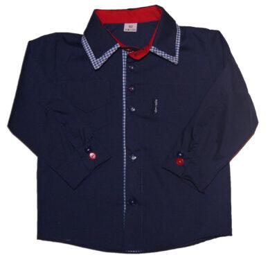 Koszula dla dzieci w kolorze granatowym