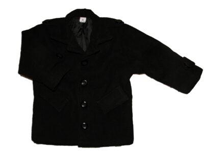 Elegancki czarny płaszczyk dla chłopca