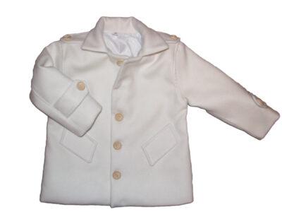 Kremowy płaszczyk dla chłopca