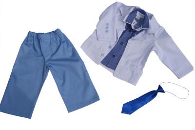 Biało-niebieskie ubranko do chrztu