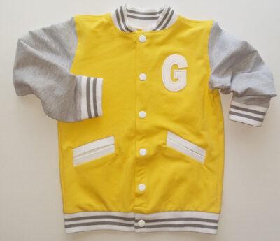 Żółta bluza bejsbolówka